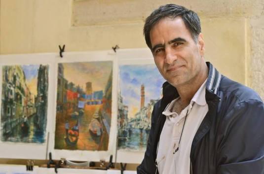 Aras Kefayati, peintre des rues (Ph. Michael Y. Simon)