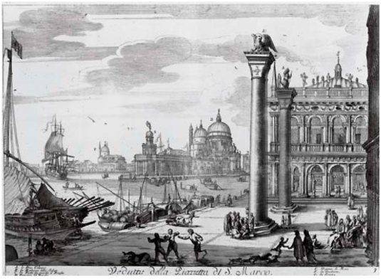Il gran teatro di Venezia ovvero raccolta delle principali vedute e pitture. - Venezia: Domenico Lovisa in Rialto, circa 1720