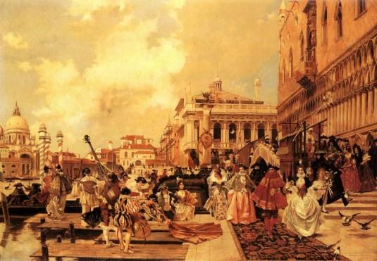 Le carnaval de Venise par François Flameng