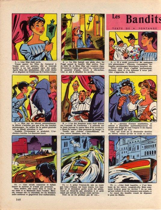 Les Bandits de Venise - La semaine de Suzette - 1 août 1957