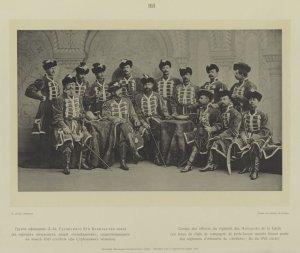 groupe des officiers du Régiment de Hussards