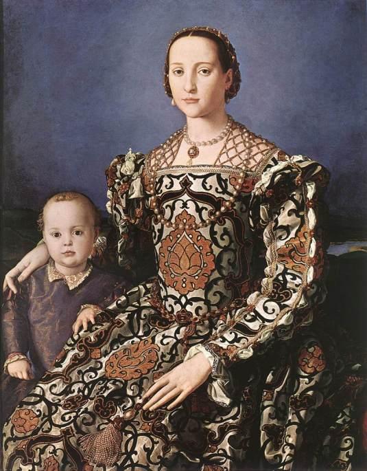 Bronzino : Eléonore de Tolède avec son fils Jean de Médicis.