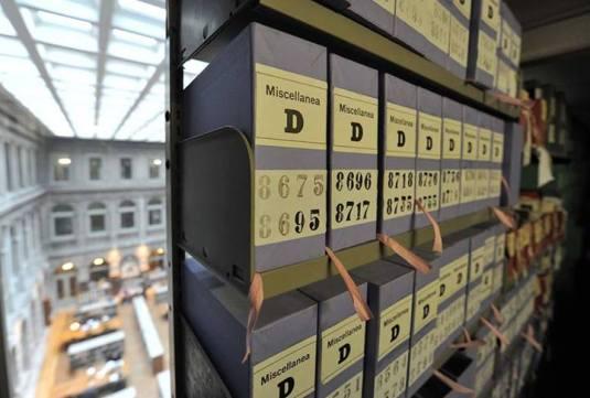 Biblioteca Nazionale Marciana la sala di lettura stampati vista dal deposito delle miscellanee D