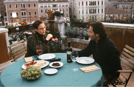 Paola et Guido Brunetti sur leur terrasse.
