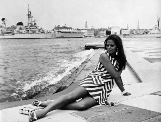 Claudia Cardinale à Venise en 1967
