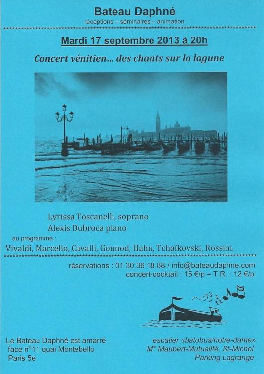 Flyer Concert Concert vénitien... des chants sur la lagune