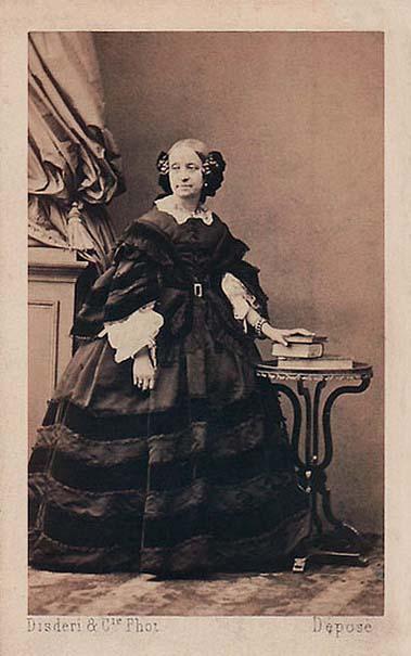 La ballerine Maria Taglioni vers 1865