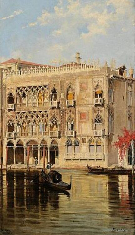 """The Palazzo D'oro On The Canal Grande In Venice (432х751) - Antonietta Brandeis"""