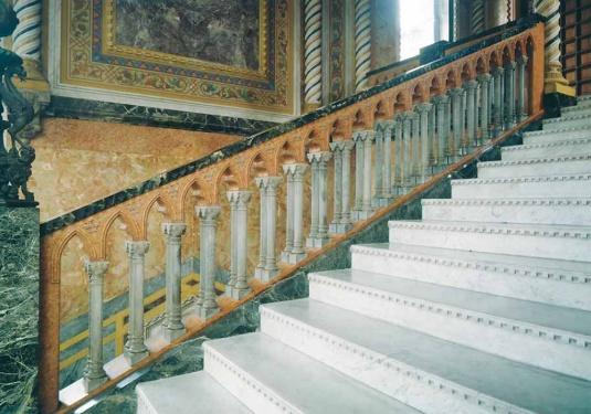 Visite à l'intérieur du palazzo...
