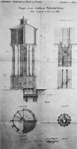 Plans du château d'eau de Sant' Andrea