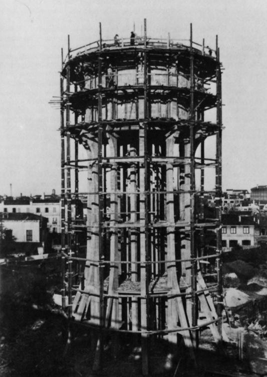 Construction du château d'eau en 1914