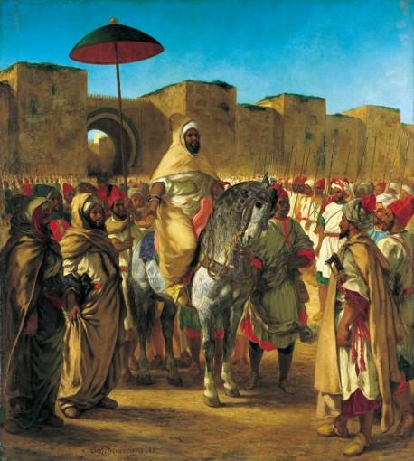 Eugène Delacroix  Moulay Abd-Er Rahman sultan du Maroc sortant de son palais de Meknes