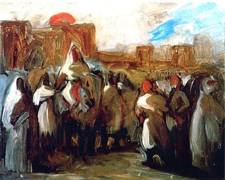 Eugène Delacroix, Esquisse de l'audience du 22 mars 1832 (Charles de Mornay, en ambassade au Maroc), Dijon, musée des Beaux-Arts.