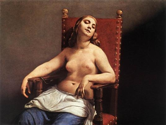 Guido Cagnacci. La mort de Cléopâtre