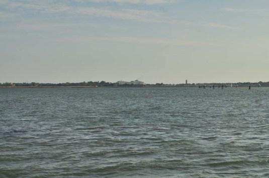 Mostre des mers dans la lagune de Venise