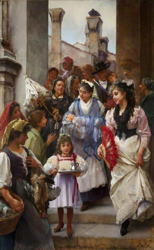 A Venetian Christening Party par Henry Woods