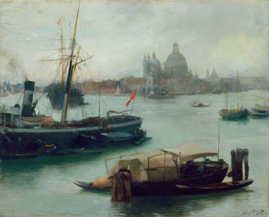 Entrance to the Grand Canal, Venice par Henry Woods
