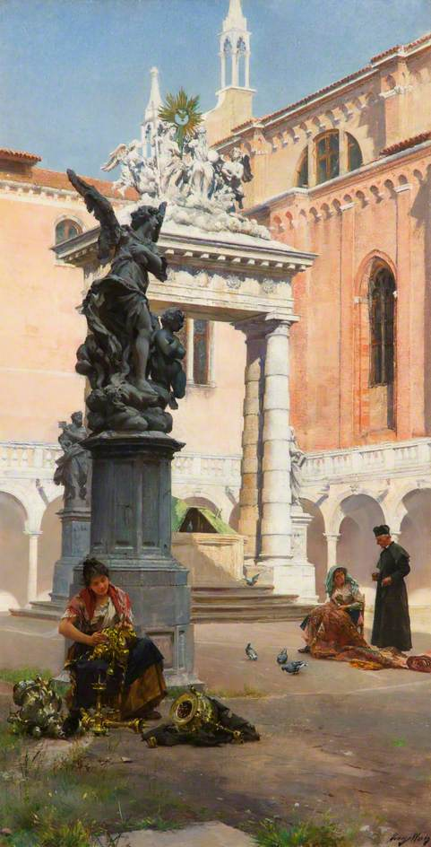 Cloisters, the Church of the Frari, Venice par Henry Woods