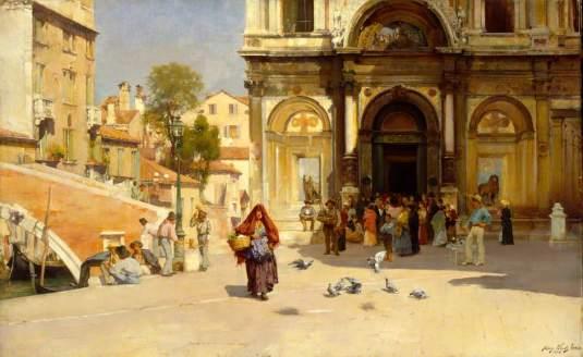 Il Campo SS Giovanni e Paolo, Venice par Henry Woods