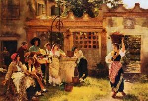 A Venetian Fan Seller 1882