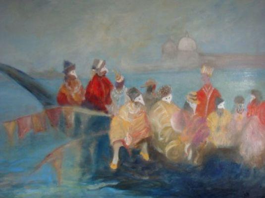Départ pour le carnaval - Venise par Alain Nonn