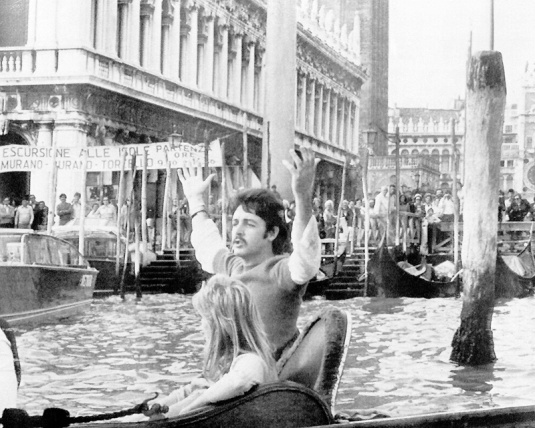 Paul e Linda McCartney a Venezia nel 1976
