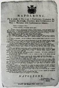 Traité de Napoléon à propos de la destruction des monastères de Venise et sa lagune