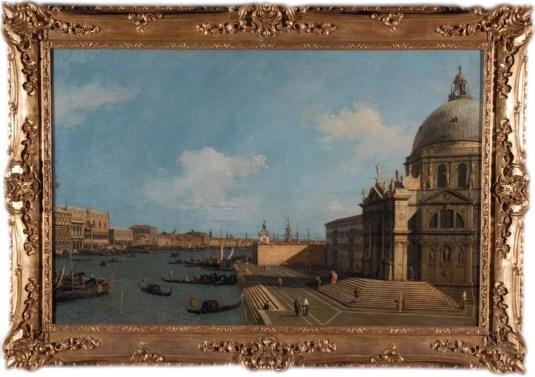 Canaletto : L'entrée du Grand Canal et la Basilique della Salute Collections royales de la Reine Elizabeth II