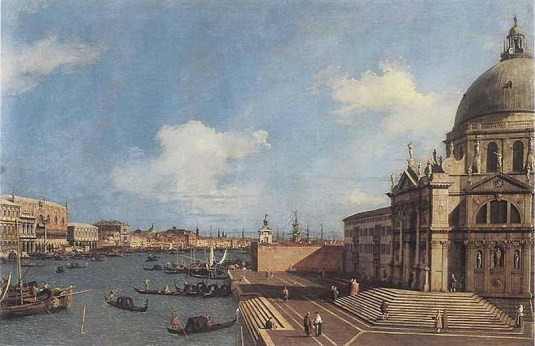 Canaletto : L'entrée du Grand Canal et la Basilique della Salute CollectionTerruzzi
