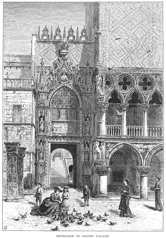Porte de la Carta du palais Ducal de Venise
