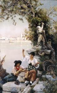 Cupid's Spell par Henry Woods - 1885