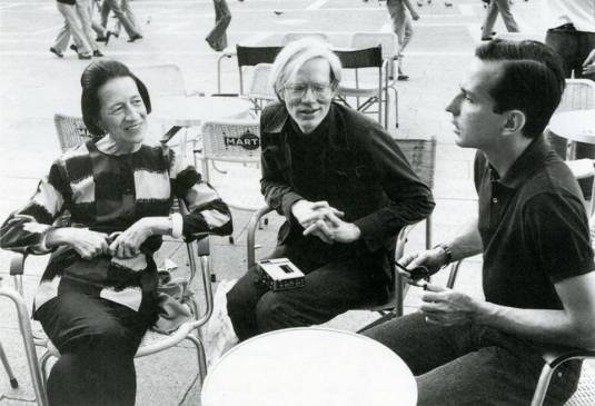 Diana Vreeland, Andy Warhol et Fred Hughes, Piazza San Marco