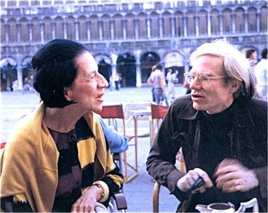 Diana Vreeland sur la piazza San Marco