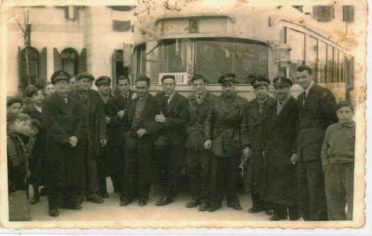 Le tramway sur la Piazza Pastrello à Favaro Veneto
