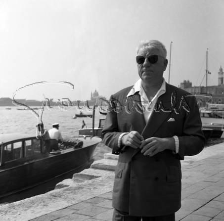 Jean Gabin à Venise, photographié par Giancolombo