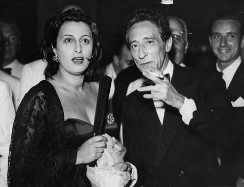 Anna Magnani et Jean Cocteau, au Festival du Cinéma de 1950