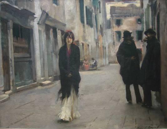 Street in Venice  John Singer Sargent - 1882  National Gallery of Art, Washington, D.C.