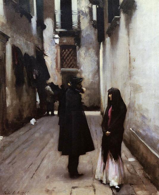 Venetian Street  John Singer Sargent - 1880-1882 Collection of Rita and Daniel Fraad