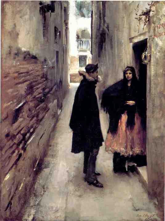 A Street in Venice John Singer Sargent -  c. 1880-82 Sterling Francine Clark Art Insitute,  Williamstown Massachusetts