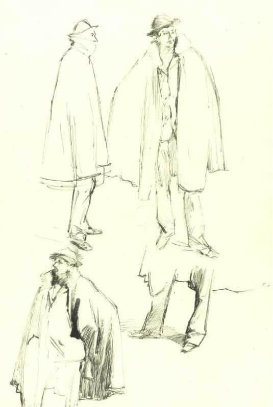 Études pour Venetian Street Scene John Singer Sargent - c. 1880-1882 Collection privée