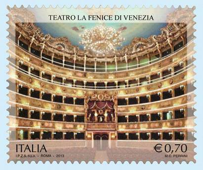 Un francobollo per 'La Fenice' a dieci anni dalla rinascita