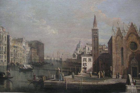 Giovanni Antonio Canal, Canale Grande od kostela S. Maria della Carita k přístavu San Marco