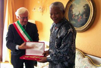 Nelson Mandela, citoyen honoraire de Venise