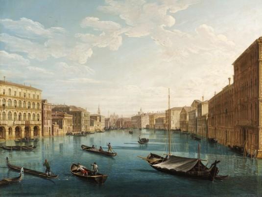 Pietro Bellotti, Il Canal Grande verso sud con palazzo Moro Lin