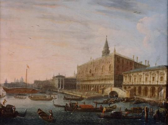 Pietro Bellotti, Il Molo verso ovest con il Palazzo Ducale
