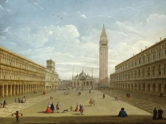 Pietro Bellotti, Veduta di piazza San Marco verso est