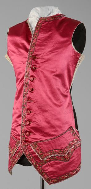 Devant d'un gilet à basques démonté, époque Louis XVI