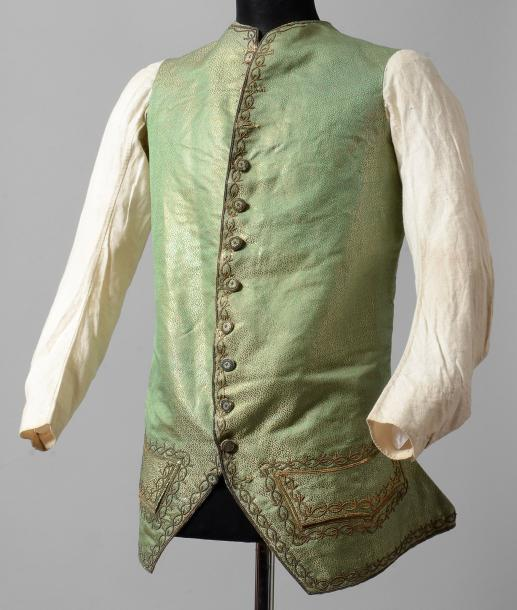 Veste d'habit à basques, vers 1770