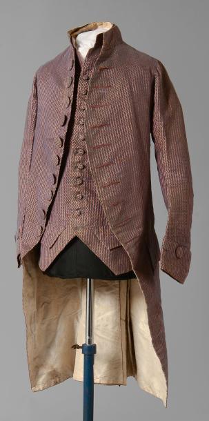 Habit à la française et gilet, vers 1780
