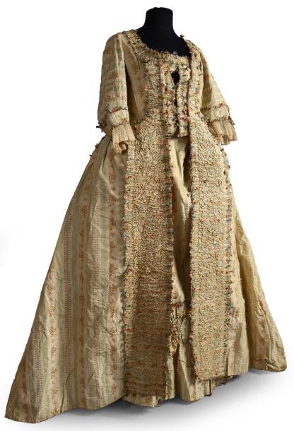 Robe à la française, vers 1770-1780